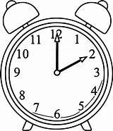 Clock Coloring Alarm Printable Clip Cartoonized Ck Cartoon Wecoloringpage Clo Turkey Sheets Pokemon Dog sketch template