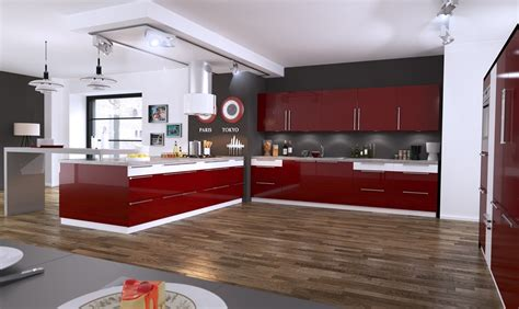 cuisine couleur bordeaux brillant cuisine couleur bordeaux brillant dootdadoo com idées