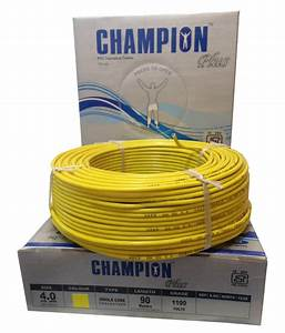 Buy Champion Plus Electric House Copper Wires 4.0 Sq Mm ...