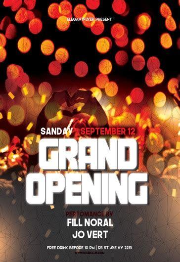 party  grand opening lights template  elegantflyer