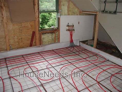 Pex Radiant Floor Heating In Concrete by Pex Radiant Slab On Grade Pex Underfloor Heating System
