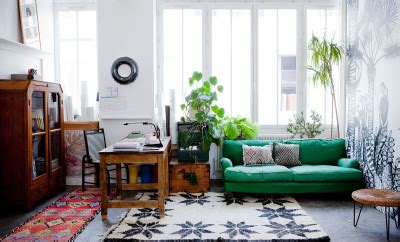 colorfull bohemian style apartment  cecile figuette
