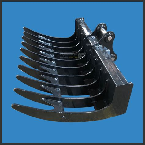 excavator root rake ransunbucket excavator attachments