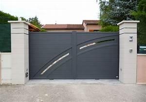 Portail Alu 3m : portail alu contemporain portail coulissant 3m maison infos ~ Melissatoandfro.com Idées de Décoration
