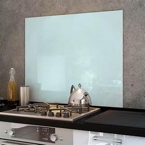 Fond De Hotte Verre : cr dence fond de hotte verre brillant blanc hauteur ~ Dailycaller-alerts.com Idées de Décoration
