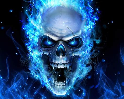 blue fire skull theme wallpapers  android apk