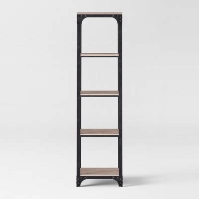 Small Bookcase Target by 72 Quot Franklin 5 Shelf Narrow Bookcase Gray Threshold Target
