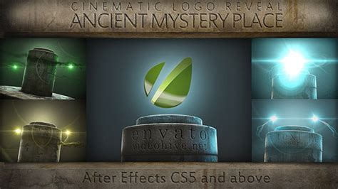 after effects template secret files ancient mystery place cinematic logo reveal by rad fx