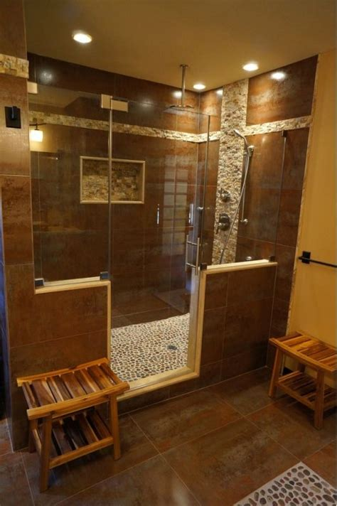 Asian Bathroom Ideas by Beautiful Bathroom Design With Large Unique Walk In Shower