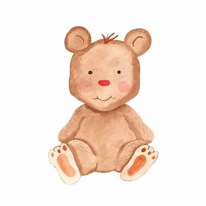 Clipart Aquarela Cartoon Toy Urso Brinquedo Vetor