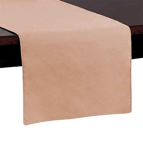 72 inch table runner buy basic polyester 72 inch table runner in peach from bed