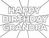 Coloring Birthday Happy Pages Printable Grandpa Dad Mom Grandma Sheets Paper Papertraildesign sketch template