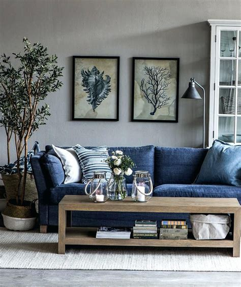 Htons Blue Living Room by Living Room Ideas Blue Sofa Best Navy Blue Couches Ideas