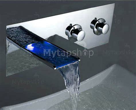 contemporary color changing led  handles waterfall