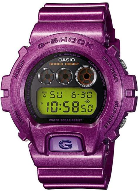 casio dwer  shock mens   purple  men lyst