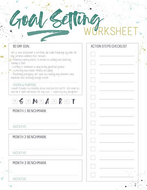 grab this s m a r t goal setting worksheet for busy women
