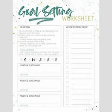 Grab This Smart Goal Setting Worksheet For Busy Women!  The Crazy Craft Lady