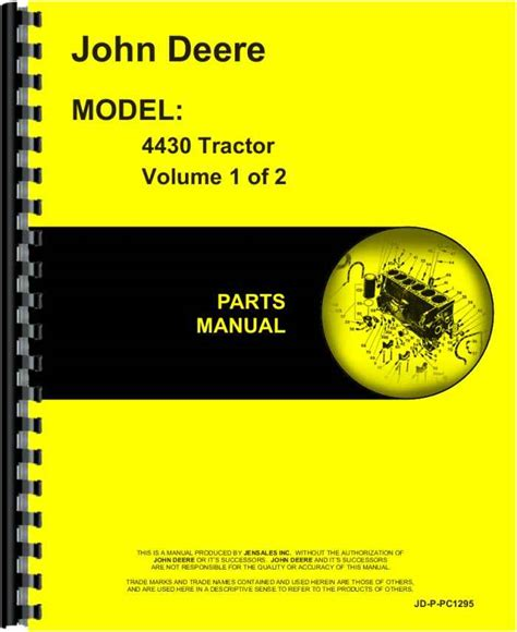 john deere  tractor parts manual