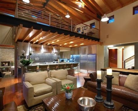 Loft Above Kitchen   Houzz