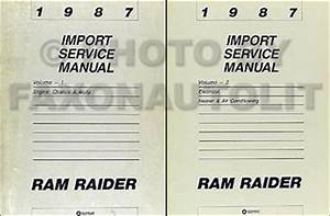 1987 Dodge Ram Raider Repair Shop Manual Original 2 Volume Set