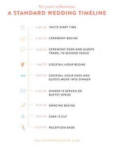typical wedding program wedding day timelines weddingbee