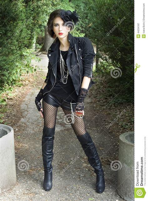 Edgy gothic girl stock image. Image of goth hollywood - 44234187