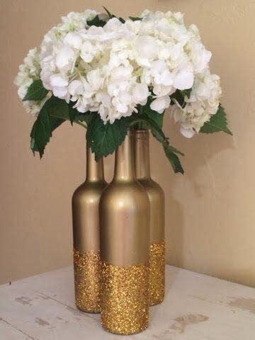 decoraciones  bodas diy  botellas de vidrio