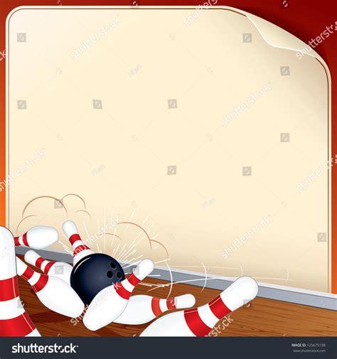 ten pin bowling background stock illustration