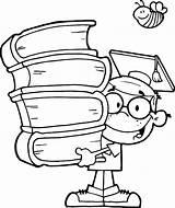Graduation Coloring Pages Genius Cap Kid Diploma Printable Drawing Books Boy Drawings Graduating Colorluna Sketch Sheets Getdrawings Flag Getcolorings Clipartmag sketch template