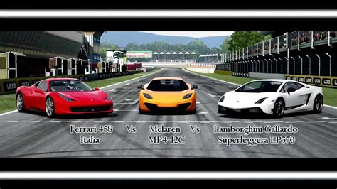 Ferrari's prancing horse and lamborghini's raging bull are in this sense in eternal competition with each other, and the vehicles themselves are as different as. Forza Motorsport 4 Battle - S1.E5: Ferrari Vs Mclaren Vs Lamborghini - YouTube