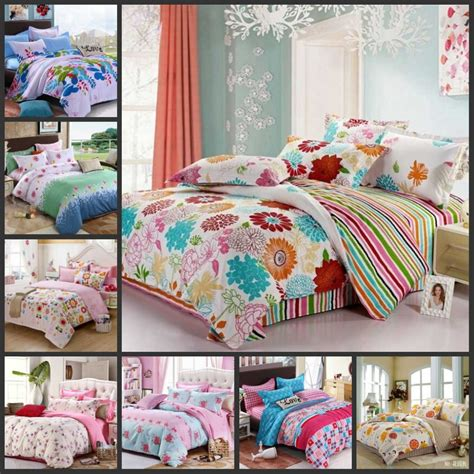 colorful beautiful flowers teen girls bedding sets