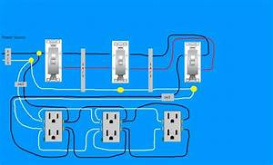 Need Diagram Help On Easiest Way To Wire Split Receptacles On 4 Way Switch
