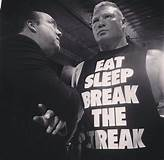 Brock Lesnar Eat Sleep Break The Streak Wallpaper