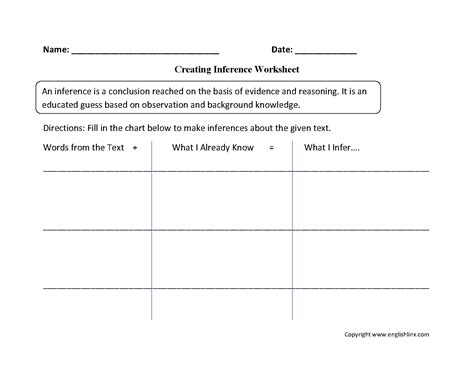 14 Best Images Of Making Inferences Worksheets 7th Grade  5th Grade Inference Graphic Organizer