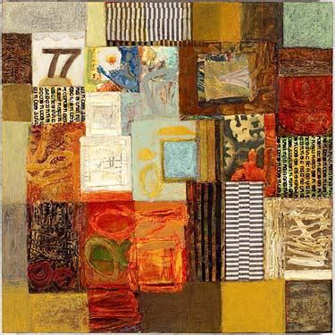 mixed media collage paintings  westchester county ny