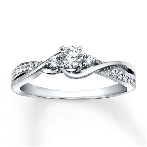 engagment rings jared engagement ring 1 3 ct tw cut 10k white gold