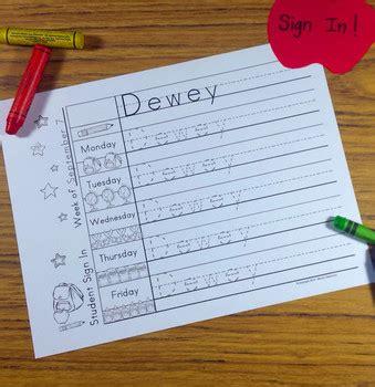 preschool and kindergarten name writing practice sign in 466 | original 1455946 2