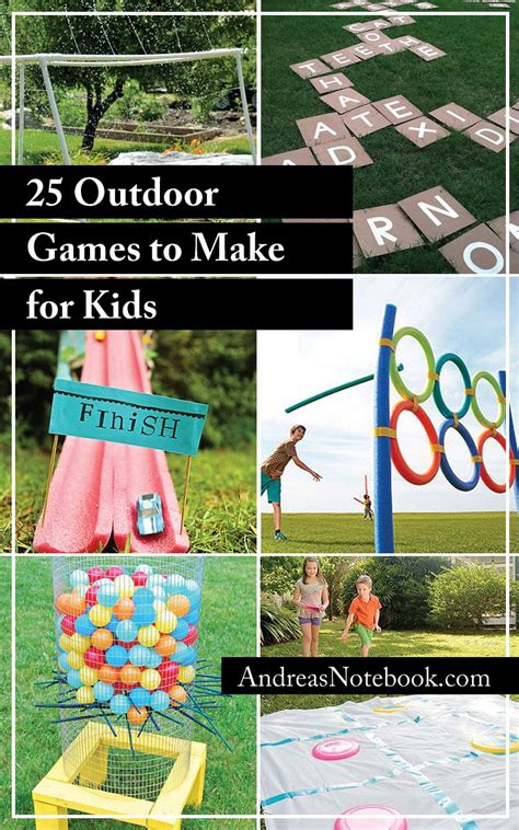 25 Outdoor Games To Make For Kids  I'm Definitely Making Some Of These!  Diy, Recipes And Tips