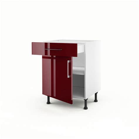 meuble bas pour cuisine meuble de cuisine bas 1 porte 1 tiroir griotte h