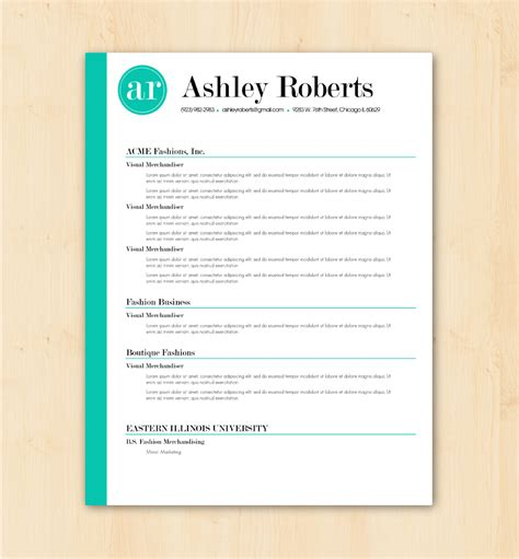 looking for a professional resume template the ashley