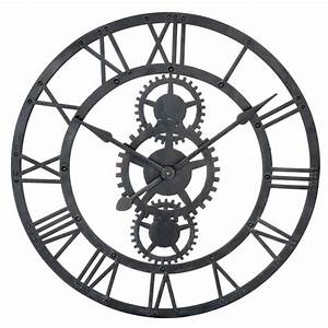 Horloge En Metal : horloge en m tal noire d 76 cm temps modernes maisons du monde ~ Teatrodelosmanantiales.com Idées de Décoration
