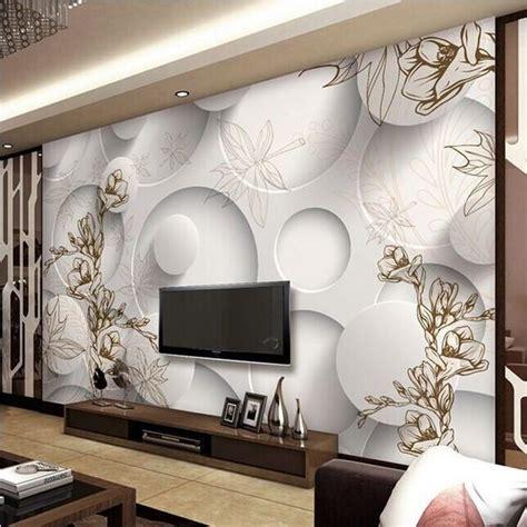 circles stereoscopic wallpaper magnolia design photo