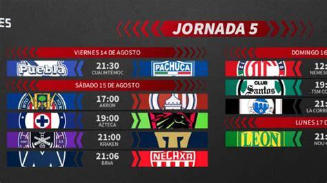 Liga MX: Fechas y horarios del Guardianes 2020, Jornada 5 ...