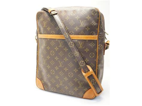 louis vuitton vintage monogram danube gm messenger crossbody bag