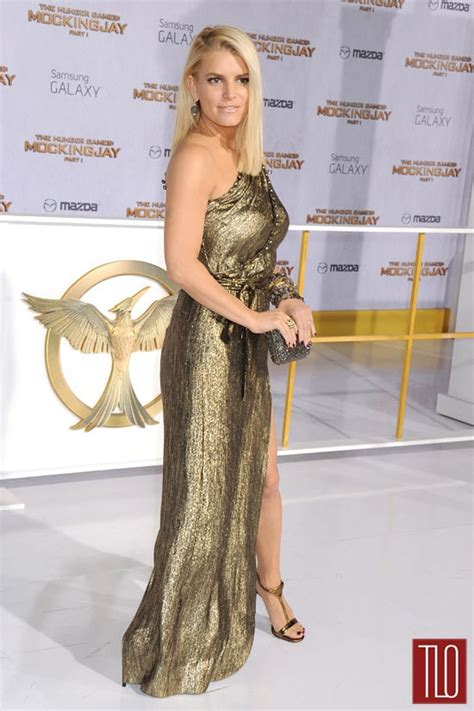 Jessica Simpson In Vintage At The Hunger Games