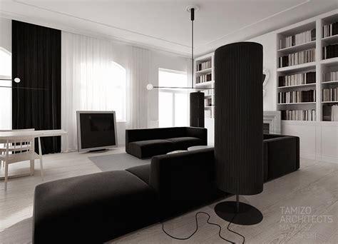 monochrome living room design interior design ideas