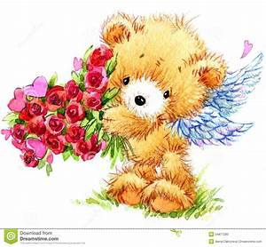 Teddy Bear With Red Heart Stock Image | CartoonDealer.com ...