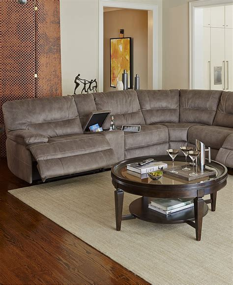 Livingroom Sectional by Liam Fabric Power Motion Sectional Sofa Living Room