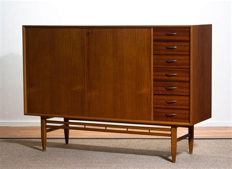 1950s Sideboard For Sale by 1950s Buffet Cabinet Credenza Sideboard In Teak With