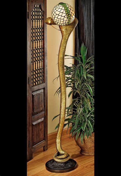 cobra god wadjet sculptural floor lamp  green head